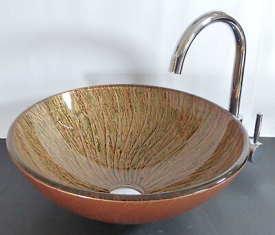 Glas Waschschale Waschbecken Waschtisch Kbg9321 Gold