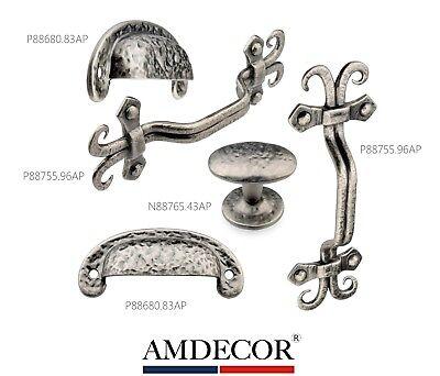Cabinet Pewter Handles - Amdecor Vintage Antique Pewter Cabinet Pull Handle knob Hardware Designer High E