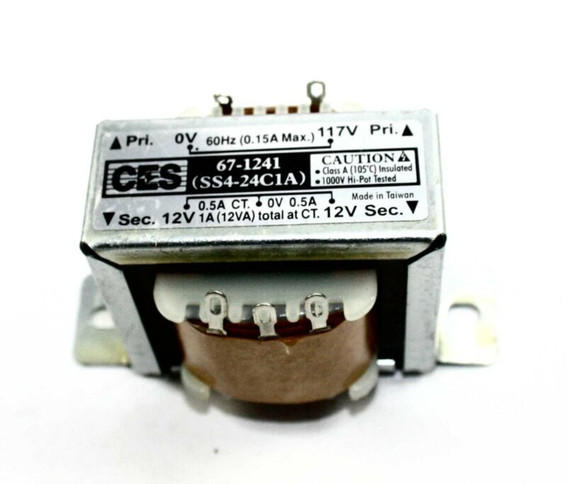 Power Transformer, 117VAC -> 24VAC Center Tap (12_0_12), 1A