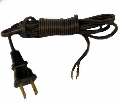 Brown Lamp Cord - LAMP 8' CORD W/PLUG: BROWN, BLACK, WHITE, GOLD, SILVER SPT-1
