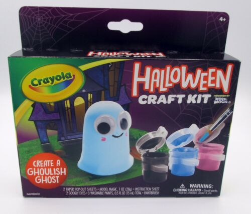 Halloween Craft Kit, Ghoulish Ghost, Crayola, NIB, Ages 4+