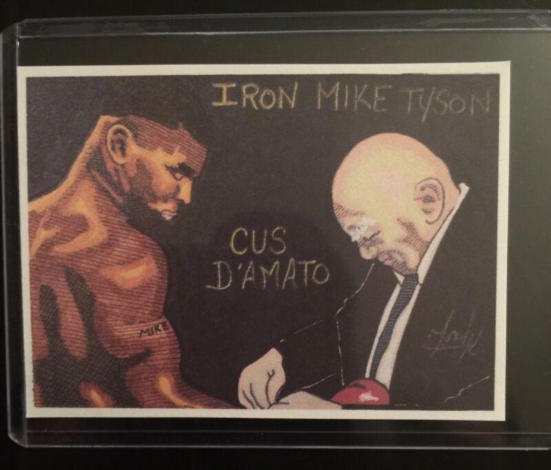 Heavyweight Boxing Legend Mike Tyson Sketch Card Sticker Print Artist Tony K