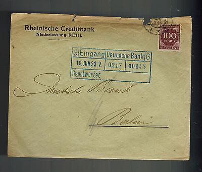 1923 Berlin Germany Inflation Cover Deutsche Bank