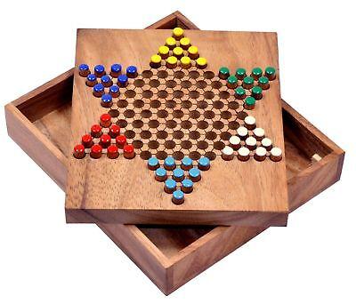 Stern Halma Chinese Checkers Strategiespiel Gesellschaftsspiel Brettspiel Gr. S