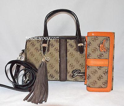 GUESS Poway Bag Purse Handbag Satchel 4 G Logo Signature Tas