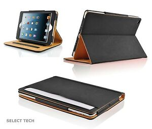 Soft Leather Wallet iPad Smart Cover & Sleep/Wake Flip Case  for Apple iPad