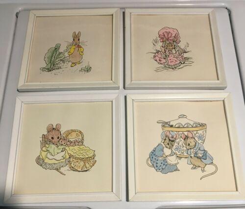 Vintage Peter Rabbit Nursery Bedroom Wall Prints Decor Set of 4