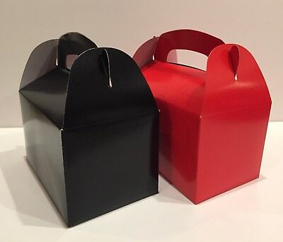 Bridal Shower Party (30 PARTY FAVOR TREAT BOX - 15 BLACK  15 RED  BAG BIRTHDAY BRIDAL BABY)