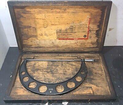 Starrett - Model No. 436 10-11 Micrometer Used Machinist Lathe Standard