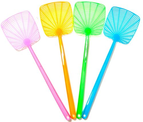 4PCS/Set Heavy Duty Fly Swatter Plastic Bug Mosquito Insect Pest Killer Catcher