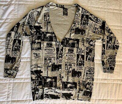RARE New Hysteric Glamour Cardigan Sweater New York Dolls L Vintage 2008 $325