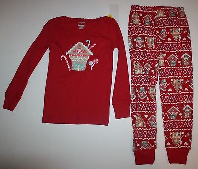 NEW Gymboree Outlet Girls Holiday Pajamas PJs 4 5 6 7 10 14 Gingerbread House