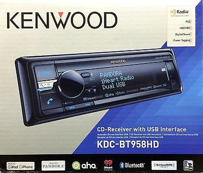 Used, NEW KENWOOD KDC-BT958HD Single DIN Bluetooth CD/USB/MP3 Receiver w/ HD Radio for sale  Shipping to Nigeria
