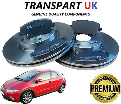 *HONDA CIVIC 2.2 CTDi DIESEL 1.4 1.8 2006-2011 FRONT 2 BRAKE DISCS AND PADS SET