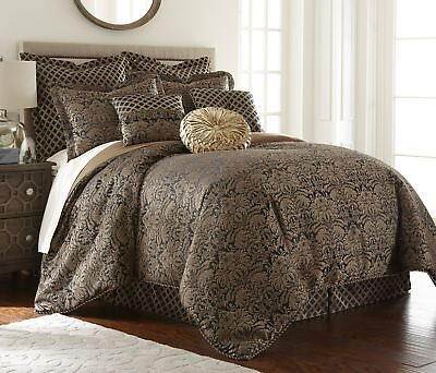 Valencia 9-piece Floral Jacquard Oversized Comforter Set or Curtain (Jacquard Floral Comforter)