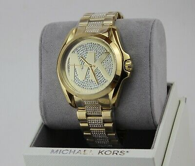 NEW AUTHENTIC MICHAEL KORS BRADSHAW CRYSTALS GOLD WOMEN'S MK6487 WATCH