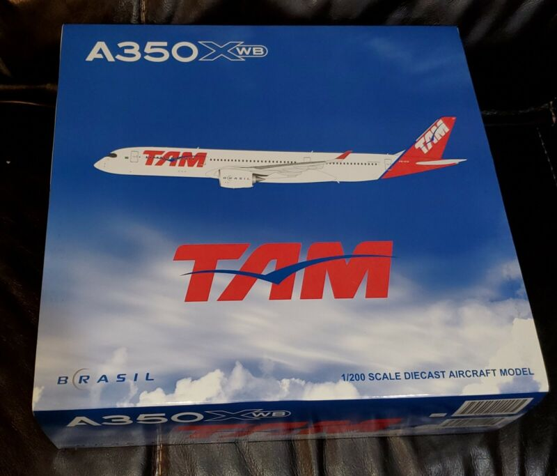 1:200 TAM Brazil Airbus A350 diecast model plane. w/stand & gears