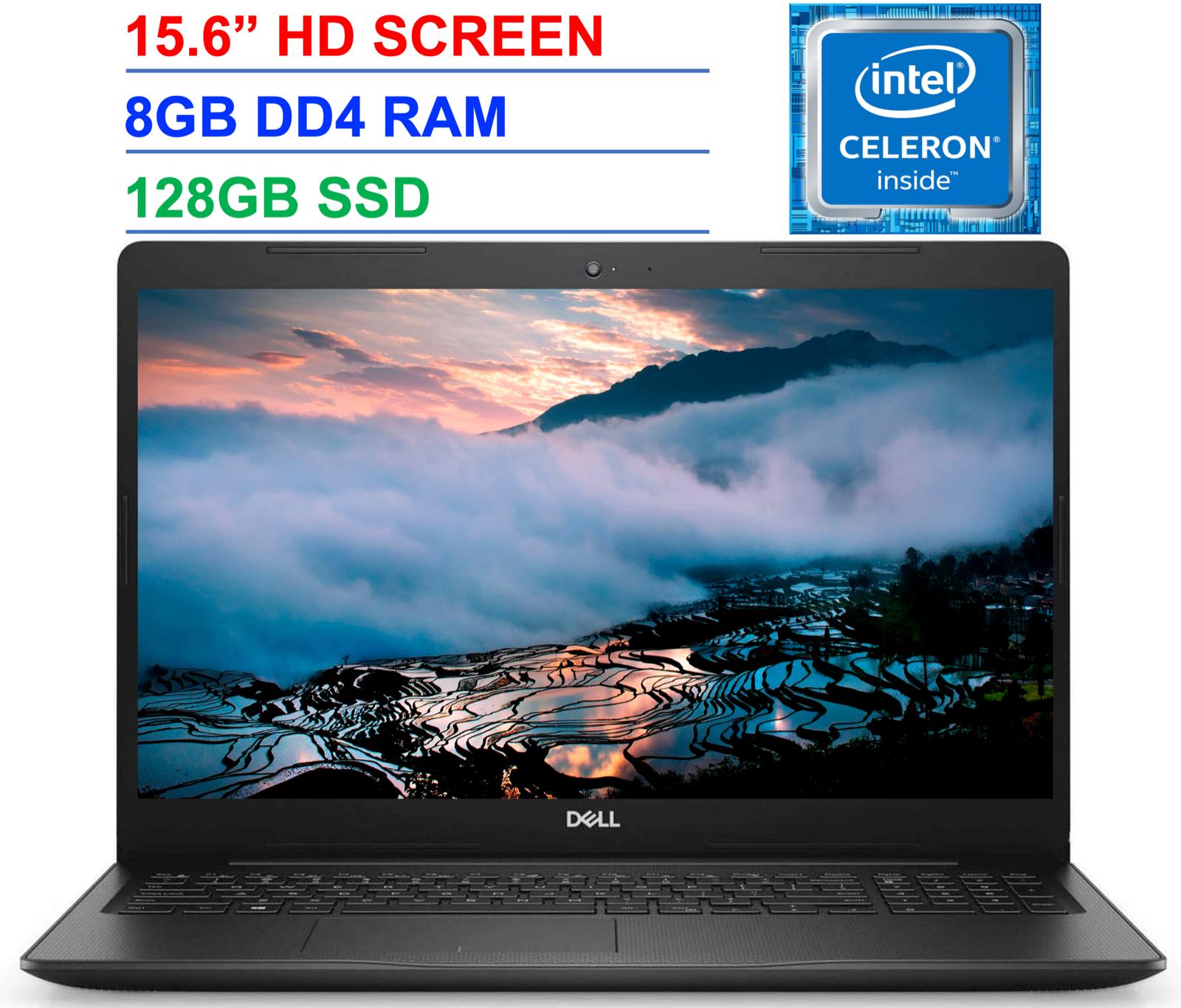 "2021 Dell Inspiron 15.6"" Laptop Intel Celeron N4020, Upto 2.8GHz, 8GB RAM 128GB"