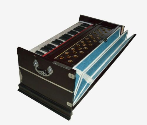 New Harmonium 7 Stopper Double Bellow 39 Key 440Hz Indian Musical Instrument