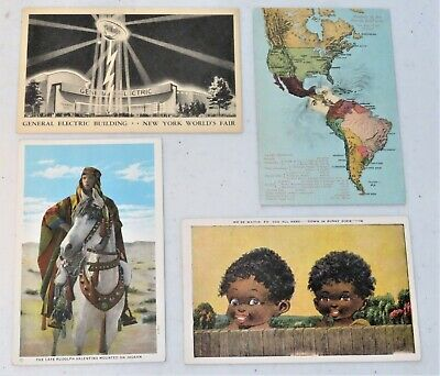 Postcard-New York World's Fair, Rudolph Valentino, etc.