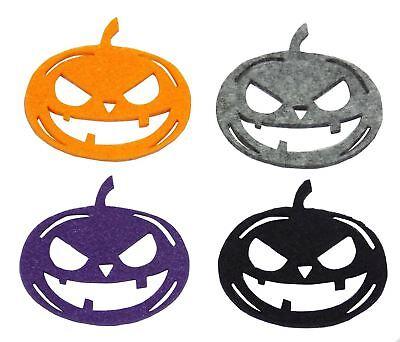 Violett Orange Grau Schwarz Stick / Zum Aufnähen Appliques (Schwarze Halloween-kürbisse)