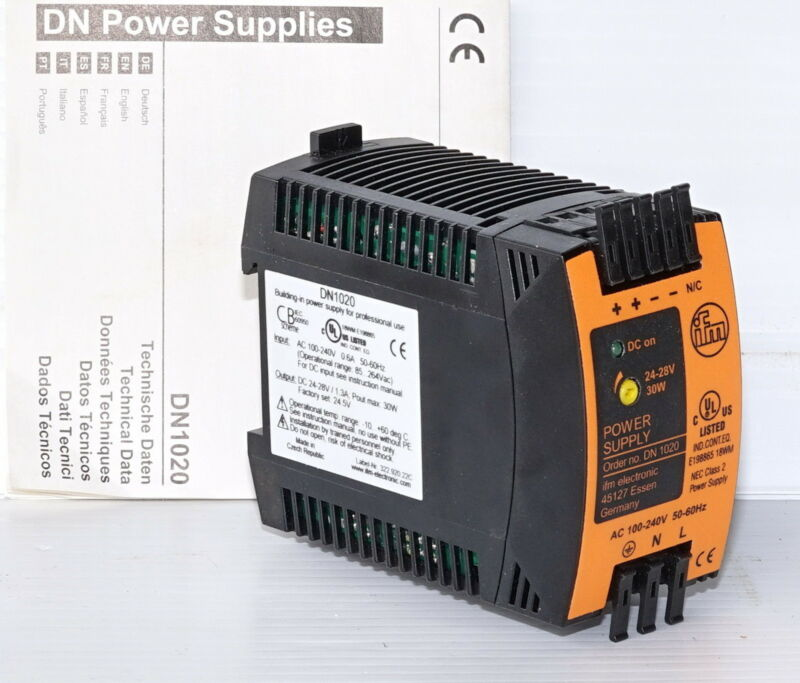 IFM DN1020 Power Supply 24VDC 1.3A