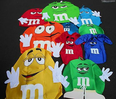 m & m HALLOWEEN COSTUMES PADDED FOAM BODY COLORS INFANTS-ADULTS - M&m Halloween Costume Baby