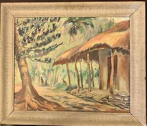 Original oil painting vintage