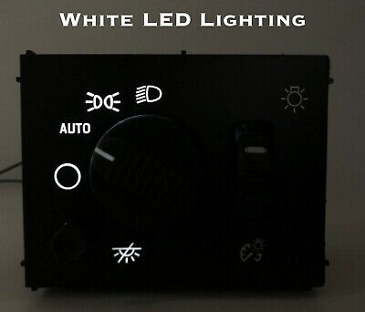 White LED Headlight Switch 03-06 Chevy Silverado Suburban Tahoe Sierra NEW White Control Switch