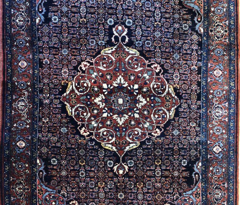 Beautiful Bijar - 1920s Antique Persian Rug - Tribal Carpet - 4.3 X 6.5 Ft