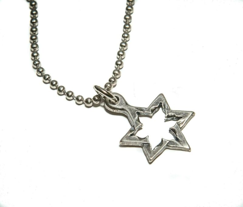 Star Of David Necklace ROCKETS INTO ROSES w/Military Chain & COA New From Israel