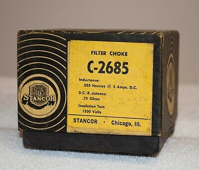 Stancor C-2685 Filter Choke .035 Henries At 2 Amps Dc