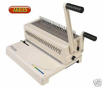 Akiles Megabind-2 Comb Binding Machine Punch Also Does Spiral-o Wire New