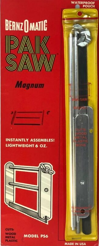 """BERNZOMATIC Magnum Pak-Saw 11"""" Lightweight 6oz Collapsible Pack Vintage New"""
