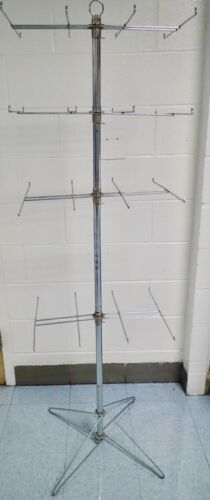 Retail 4-Tier Spinning Wire Rack Display Stand for Carded Merchandise