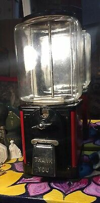 Antique Penny peanut/gumball/candy machine made by Victor, in great shape 1940's