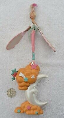 Vintage 90s Sky Dancers Moon Dancer by Galoob ? Fairy Doll & Base Launcher