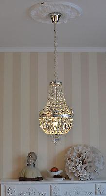 Antik Deckenlampe Lüster Shabby Chic Kristallleuchte Kronleuchter