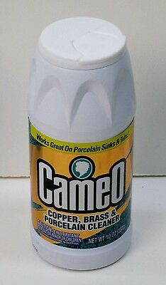 2 Pack Cameo Copper, Brass, Porcelain Cleaner Works on Porcelain Sinks & (Porcelain Cameo Brass)