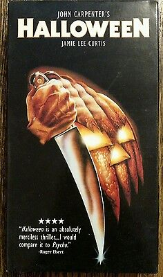John Carpenter's Halloween VHS Video Tape Movie with Jamie Lee - Halloween Movie With Jamie Lee Curtis