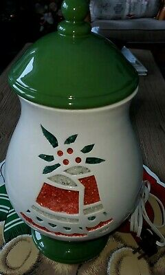 "Rare Vintage Ceramic Christmas Lamp Night Light Mold Lights Up 13.5"" Nice"