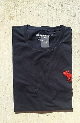 ABERCROMBIE & FITCH MEN'S BIG ICON SHIRT【 small 】124-236-1716-900 【 BLACK】