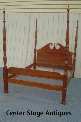 62119  Quality Custom  TOM SEELEY Cherry Queen Size Bed w/ Original side rails.