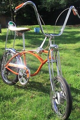 1968 Schwinn Sting-Ray Orange Krate bicycle, vintage muscle bike, Stingray crate