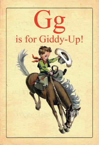 G is for Giddy Up! 13x19 Print