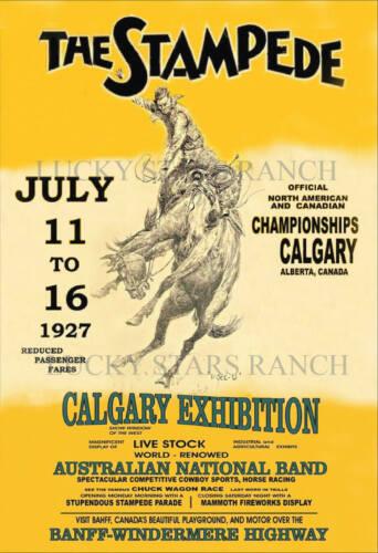 Calgary Stampede 1927  -  VINTAGE RODEO POSTER