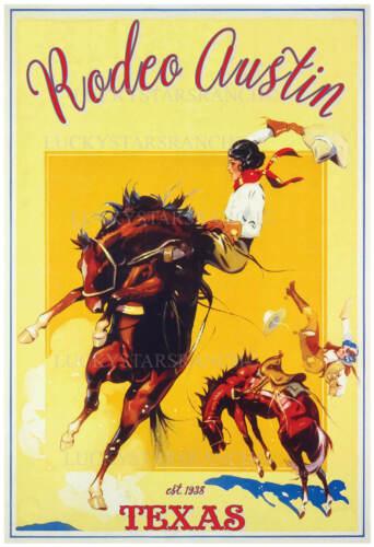 Rodeo Austin, Texas  -  VINTAGE RODEO POSTER