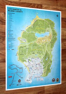 Galeria Grand Theft Auto V GTA 5 Los Santos Blaine County Map Poster Xbox one 360 PS 3 4