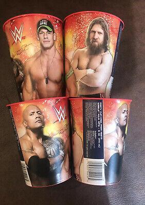 John Cena Party (WWE 16 Oz Cup - Lot of 4 - The Rock John Cena Daniel Bryan Party Tailgate)