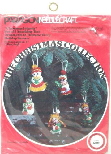 PARAGON NEEDLECRAFT CHRISTMAS FRIENDS FELT ORNAMENTS KIT #6309 NEW SEALED #D6